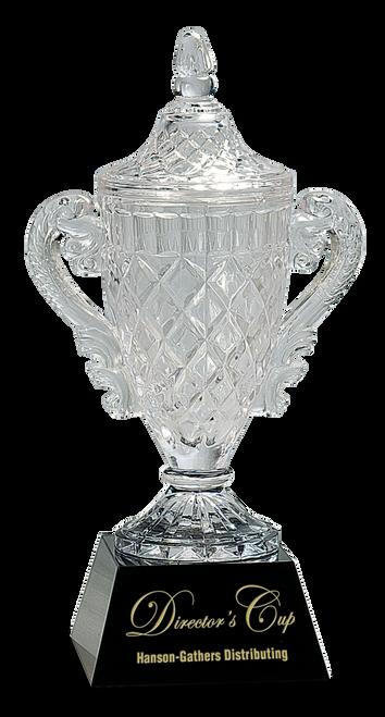 Crystal Cup on Black Pedestal Base - JCRY051M
