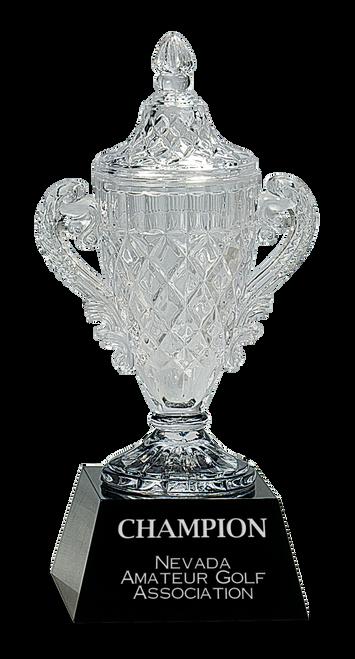 Crystal Cup on Black Pedestal Base - JCRY051S