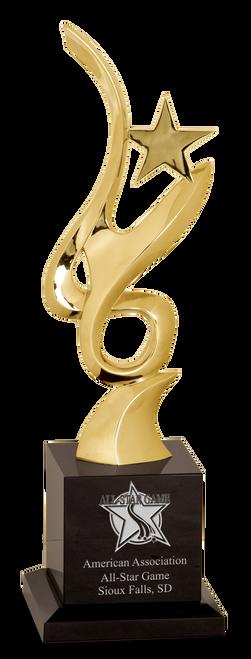 Gold Metal Art Crystal Award