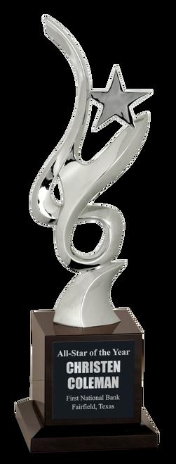 Silver Metal Art Crystal Award