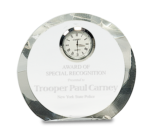 Clear Crystal Round with Clock