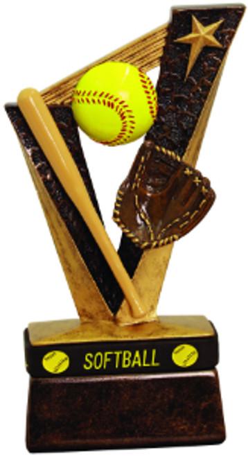 "Softball Trophybands Resin 6 1/2"""