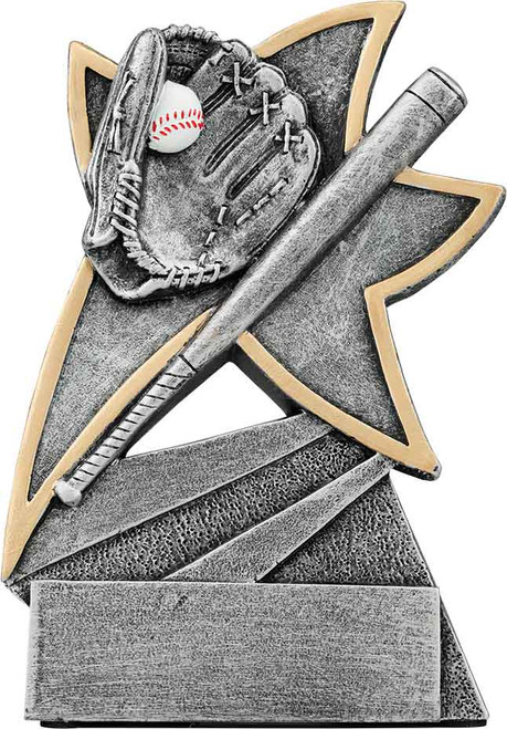 Baseball Jazz Star Resin 5 1/2""