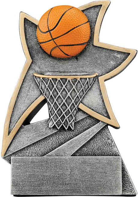 "Basketball Jazz Star Resin 5 1/2"""