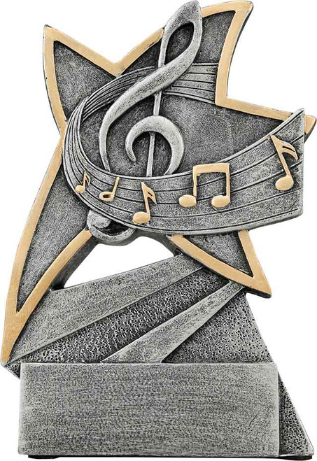 "Music Jazz Star Resin 5 1/2"""