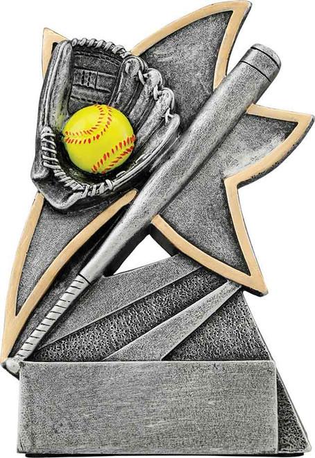 "Softball Jazz Star Resin 5 1/2"""