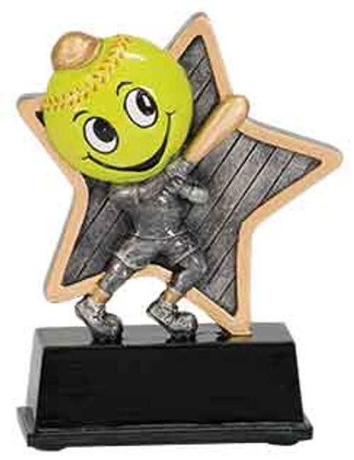 "Softball Little Pal Resin 5"""