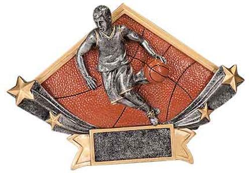 Male Basketball Diamond Star Resin