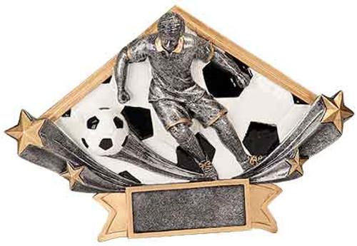 Male Soccer Diamond Star Resin