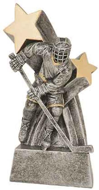 "Male Hockey Super Star Resin 6"""