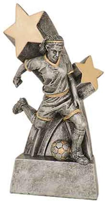 """Female Soccer Super Star Resin 6"""""""