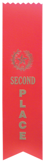 "2nd Place Red ""PINKED Top"" Ribbon"