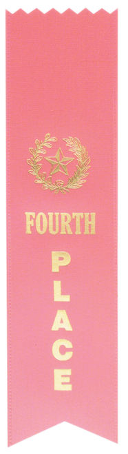 "4th Place Pink ""PINKED Top"" Ribbon"