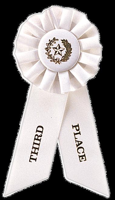 3rd Place White Rosette Ribbon
