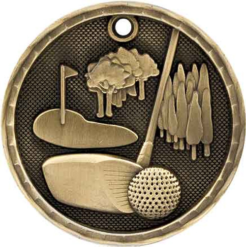 Golf 3D Medal