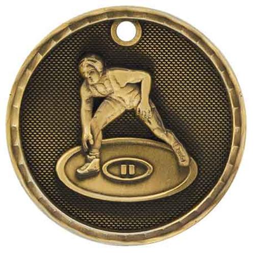 Wrestling 3D Medal
