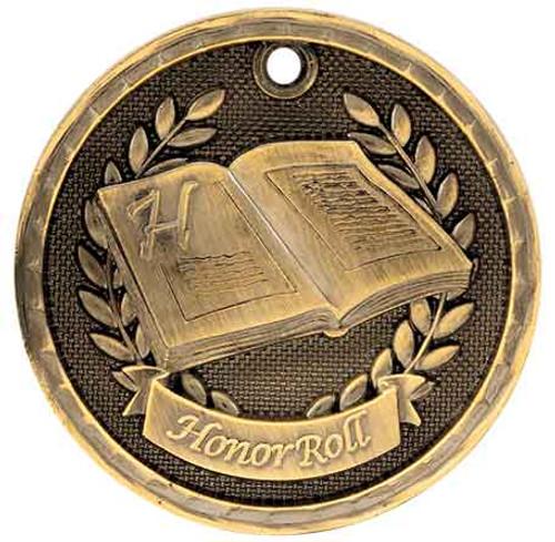 Honor Roll 3D Medal