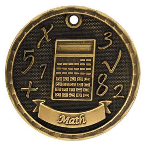 Math 3D Medal