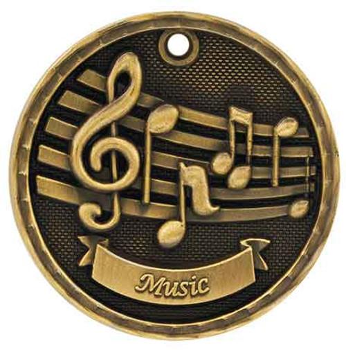 Music 3D Medal