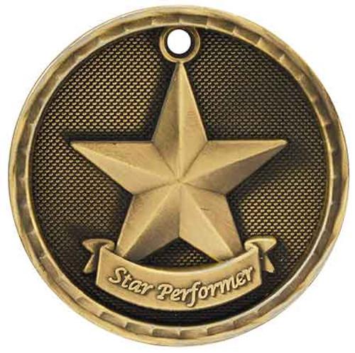 Star Performer 3D Medal