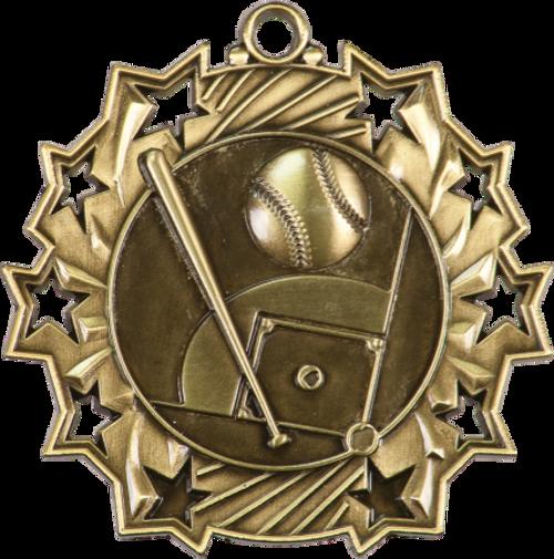 Baseball/Softball Ten Star Medal