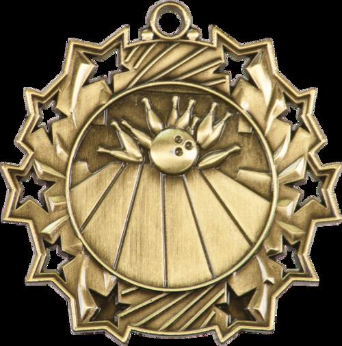 Bowling Ten Star Medal