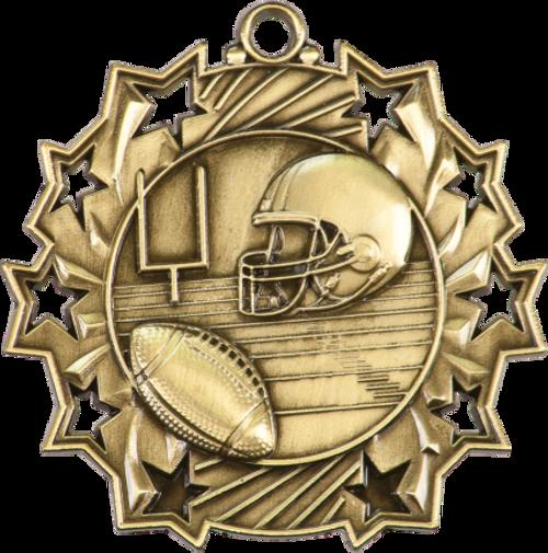 Football Ten Star Medal