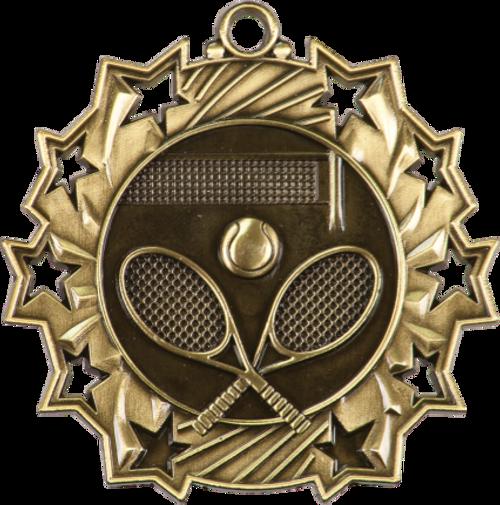 Tennis Ten Star Medal