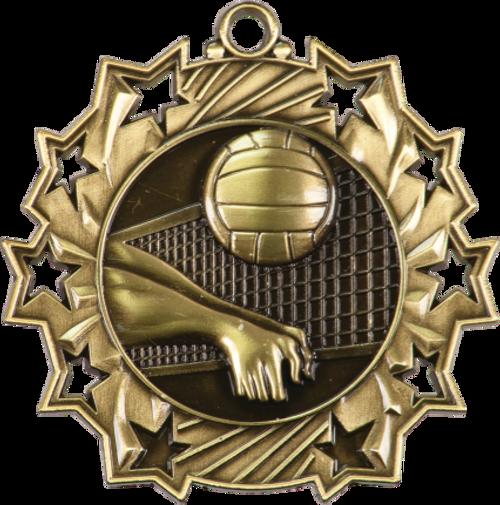 Volleyball Ten Star Medal