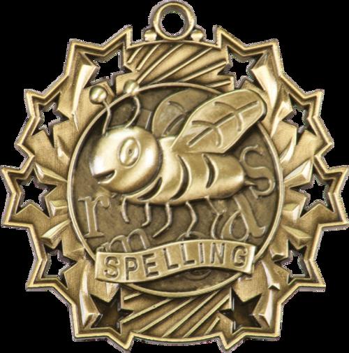 Spelling Ten Star Medal