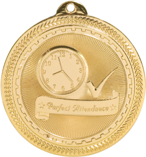 Perfect Attendance BriteLazer Medal