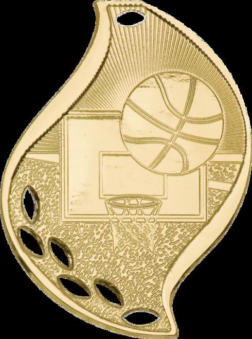 Basketball Flame Medal