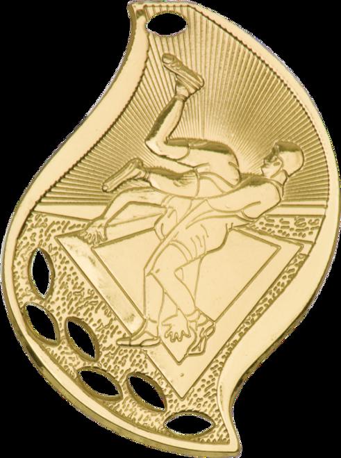 Wrestling Flame Medal