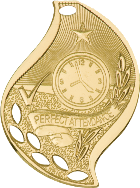 Perfect Attendance Flame Medal