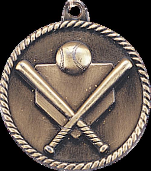 Baseball/Softball High Relief Medal
