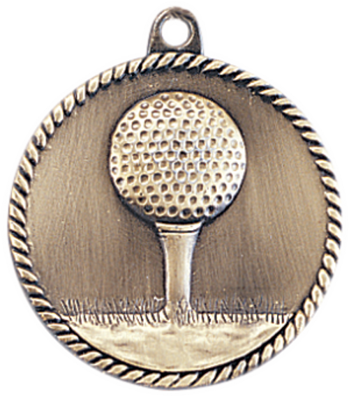 Golf High Relief Medal