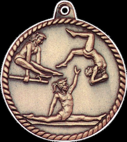 Female Gymnastics High Relief Medal