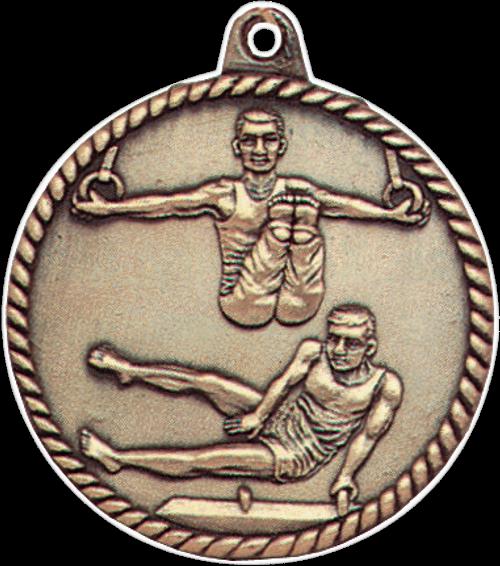 Male Gymnastics High Relief Medal