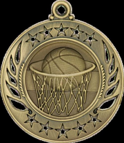 Basketball Galaxy Medal