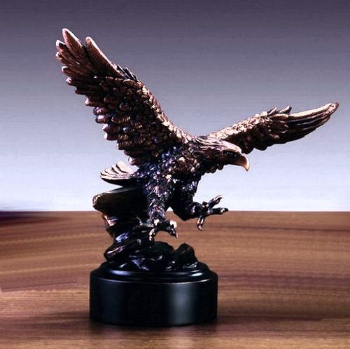 Small Eagle on Black Round Base