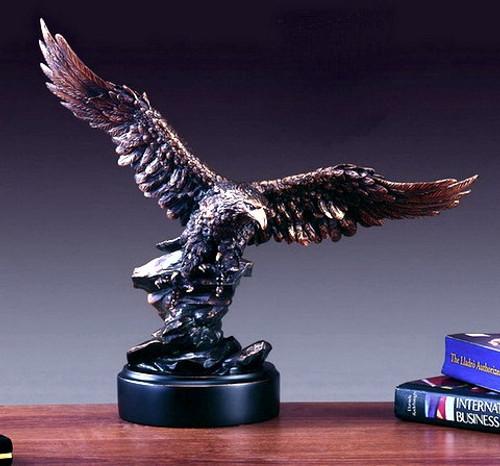 Large Eagle on Black Round Base