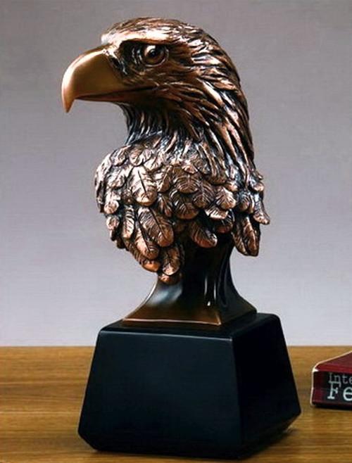 Eagle Head on Black Square Base