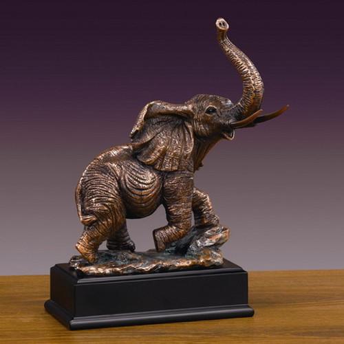 Elephant on Black Rectangular Base