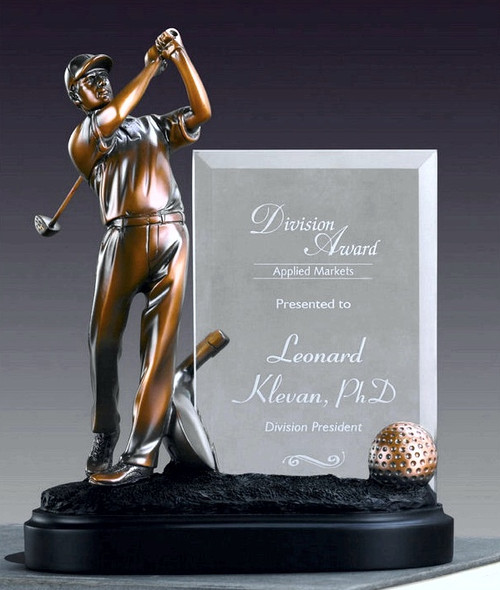 Golfer w/ Glass Imprint Award