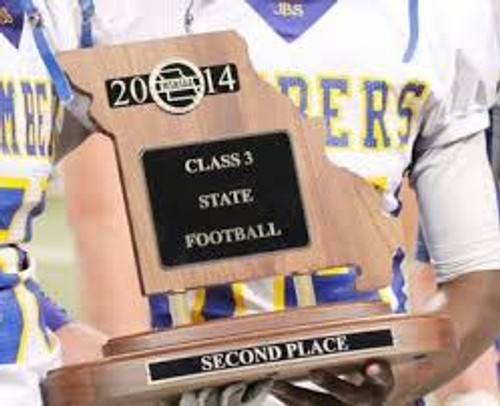 MSHSAA State Second Place Trophy