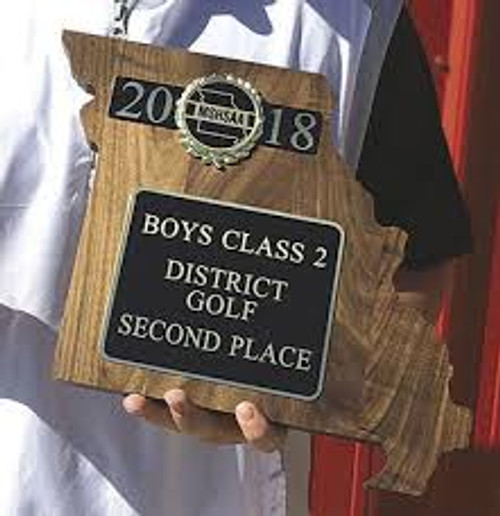MSHSAA District Second Place Plaque