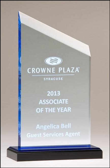Zenith Series Acrylic Award w/ Blue Accents