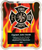 Firefighter HERO Plaque with Vertical Flames