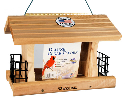Deluxe Cedar Feeder with Suet Cages