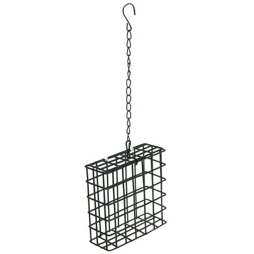 Basic metal suet cage.